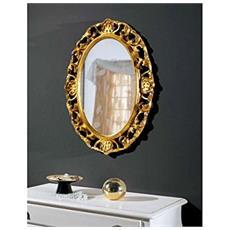 Specchiera Ovale In Legno L60 H81 P4