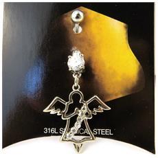 body piercing 'ange gardien' bianco - [ m5640]