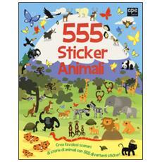 555 sticker animali