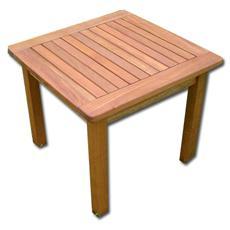 Tavolino di servizio in legno balau yellow. Finitura a olio.