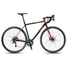 Bici Corsa Ktm Canic Cxa 10v Tiagra Disc Nero Opaco Arancio Rosso