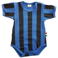ZIGOZAGO - Body Neroazzurro A Righe Inter. Taglia: 18 Mesi