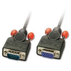 Prolunga Monitor VGA Nera senza ferrite, 5m