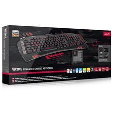 Advanced Gaming Keyboard, LED, USB, Nero