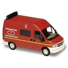 2191 Peugeot Boxer Rosso Pompieri 1/50 Modellino