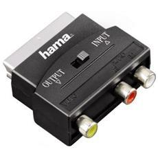 75122239 SCART 3 x RCA Nero cavo di interfaccia e adattatore