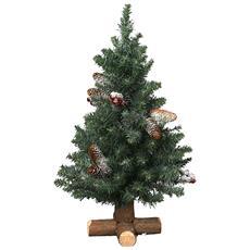 Albero di Natale con Pigne Altezza 75 cm