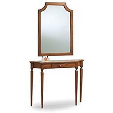 Cornice In Legno Con Specchio+consol 105x70+105x28x85h
