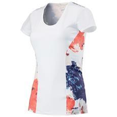 T-shirt Bambina Vision Graphic Bianco Rosa 140