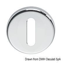 Rosette per serrature Ø 48 mm foro ovale