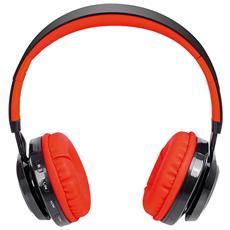 Cuffie Bluetooth Con Microfono Dj 1300 Btr Rosso