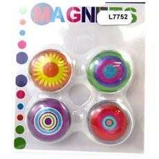 set di 4 magneti 'coloriage' tutti frutti - [ l7752]