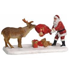 Babbo Natale Con Renna - Reindeer Teasing Santa Cod. 610041 Presepe