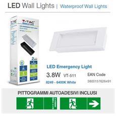 Lampada Emergenza Led Anti Black-out 3.8w 110lm Ip20 Con Box Incasso Vt-511 – Sku 8249