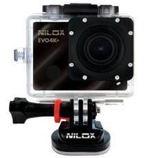"""Action Camera Evo 4k+ Sensore CMOS 16 Mpx Stabilizzato Wi-Fi Display 2"""" Impermeabile"""
