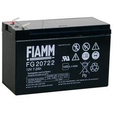 IC-FG20722 - Batteria al Piombo 12V 7,2Ah (Faston 6,3mm)