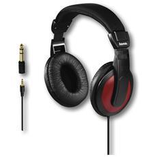 Cuffia stereo HK5618 con cavo 2 m colore Rosso / Nero