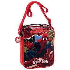 Borsa Tracollina Borsetta Con Tracolla Regolabile Bambino Pvc Spiderman