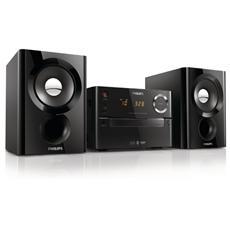 Sistema Micro Hi-Fi BTM1180 Lettore CD Supporto MP3 Potenza Totale 20Watt Wireless Bluetooth una porta USB