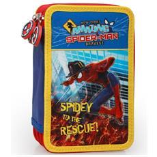 Astuccio a 3 Zip con Accessori per la Scuola e il Disegno The Amazing Spiderman