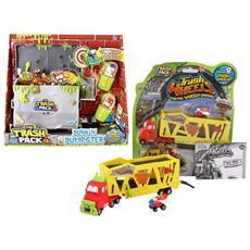 Set Completo Trash Pack: Camion Muck Mover + Cassonetto della Spazzatura con Due Mostri-Immondizia