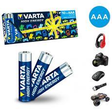 Confezione Da 10 Batterie Mini Stilo Aaa 774128 Alcaline Lr03 1.5v