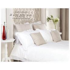 San Gallo Elegante E Raffinato Completo Copripiumino Matrimoniale Lavorazione Artigianale (bianco)