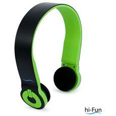 Cuffie ad Archetto Hi-Edo Bluetooth colore Nero / Verde