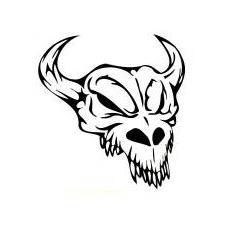 Skull 018 - black