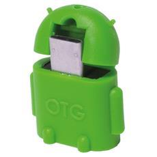IDATA UOTG-U2-GE - Adattatore USB 2.0 OTG MicroB M / A F per Smartphone / Tablet Verde
