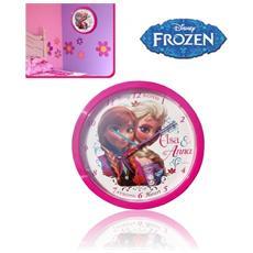 Wd92071 Orologio Da Parete Per Camerette 24 Cm Principesse Frozen Elsa E Anna Disney