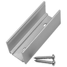 Profilo Di Fissaggio In Alluminio Con Viti Per Strisce Led Neon Flex V Tac 2527