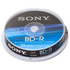 Blu Ray Disc Rw 10 Pezzi 25gb Singolo Spindle