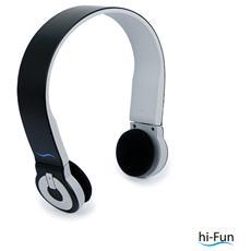 Cuffie ad Archetto Hi-Edo Bluetooth colore Nero / Grigio