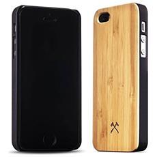 Cover in Legno per iPhone 5 / 5S Colore Bambù e Nero