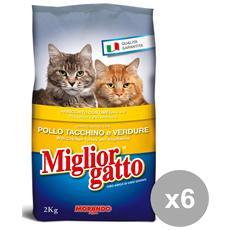 Set 6 2 Kg. secco Pollo-tacchino -verdure Cibo Per Animali