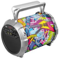 Altoparlante Amplificato Karaoke 15 Watt TREVI XF 300 POP Bluetooth USB Aux-In Mic