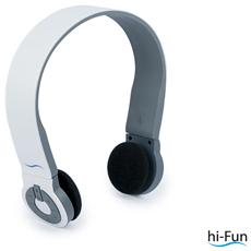 Cuffie ad Archetto Hi-Edo Bluetooth colore Bianco / Grigio