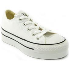 All Star Ct Platform Ox White Scarpe Donna Bianche Tela 540265c 38