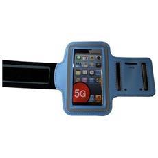 Custodia Fascia Da Braccio Sport Armband Azzurro Per Iphone 5