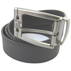 cintura in pelle '' nero - 110 cm 35 mm - [ n5589]