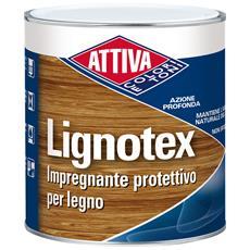 Attiva Impregnante Pronto Uso Lignotex Ml750 Per Legno Noce Chiaro 25 Solvente