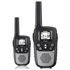 Fx390-ricetrasmittenti -walkie Talkie 8canali Portata10km 446mhz Nero