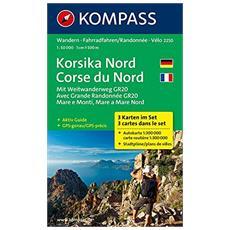 Carta escursionistica n. 2250. Corse du Nord 1:50.000