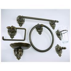 WC25. Set da bagno ottone brunito accessori da 6 pezzi
