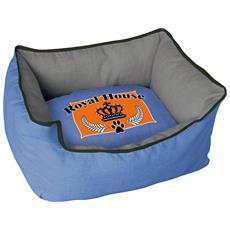 Cuccia Imbottita, comoda Per Cani Misure: 60x50xh23 Cm. Colore Blu