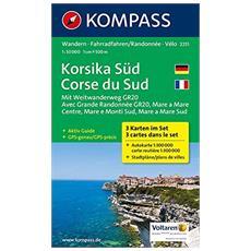Carta escursionistica n. 2251. Korsika SüdCorse du Sud 1:50.000
