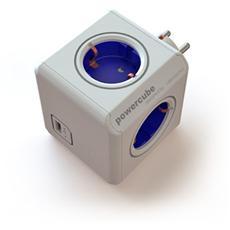 Presa multipla Powercube 4 uscite schuko bianca con USB