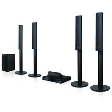 Home Theatre 3D LHA755W Lettore Blu-Ray Dolby Digital Potenza 1000Watt Wi-Fi HDMI / USB