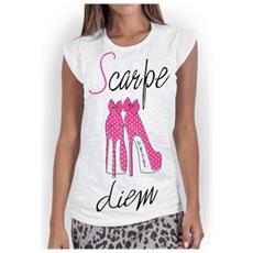 T-shirt Donna Scarpe Diem L Bianco